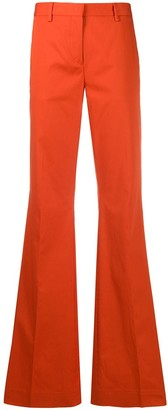 Brag Wette Mid-Rise Flared Trousers