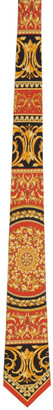Versace Red and Black Silk Le Pop Classique Tie