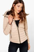 Boohoo Emma Crop Bubble Coat