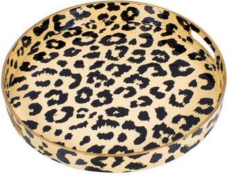 8 Oak Lane Leopard Print Round Plastic Tray