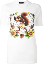 DSQUARED2 boxing squirrel t-shirt - women - Cotton - S