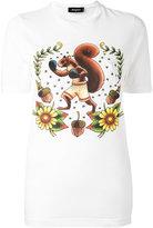 DSQUARED2 boxing squirrel t-shirt - women - Cotton - XS