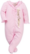 Juicy Couture Pointelle Footie (Baby Girls)