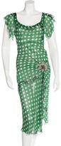 Sonia Rykiel Silk Star Print Dress