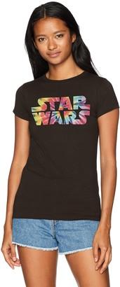 Star Wars Women's Rainbow Logo Tie Dye Crew Neck Graphic T-Shirt