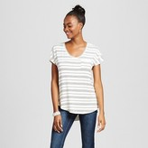 Mossimo Women's Pocket Tee Striped