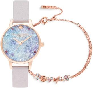 Olivia Burton Under the Sea Deep Sea Boxed Bracelet & Watch Set, 30mm