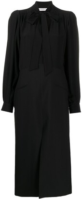 Givenchy Pussybow Midi Dress