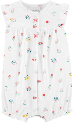 Carter's Baby Girl Floral Snap-Up Romper