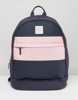 Jack Wills Navy & Pink Minimal Backpack