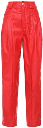 Koché High Waist Faux Leather Pants