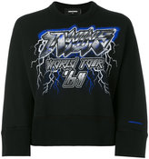 DSQUARED2 Twins World Tour '64 cropped sweatshirt
