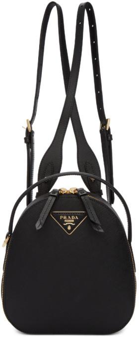 Prada Black Mini Odette Backpack