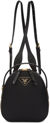 Prada Black Mini Odette Backpack
