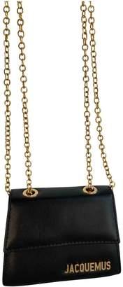 Jacquemus Le Piccolo Black Leather Clutch bags