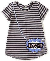 Jessica Simpson Big Girls 7-16 Katelyn Striped Love Top