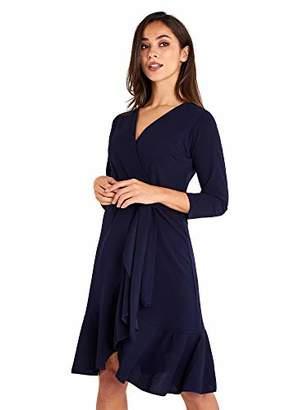 Yumi Women's Wrap Front Dress Cocktail,8