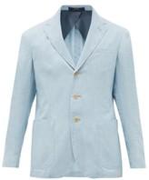 Polo Ralph Lauren Single-breasted Cotton-chambray Blazer - Mens - Blue