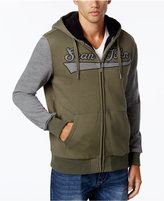Sean John Men's Sherpa-Lined Hoodie with Contrast Sleeves
