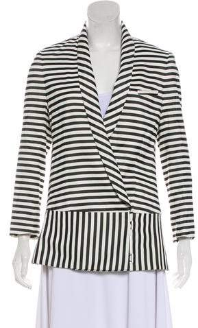 Veronica Beard Striped Cardigan Blazer