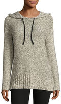Design Lab Lord & Taylor Tape Yarn Pullover Hoodie