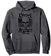 Diesel Brothers Custom Trucks Skull USA Flag Graphic Hoodie
