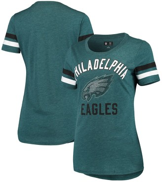G Iii Women's G-III 4Her by Carl Banks Green Philadelphia Eagles Extra Point Bling Tri-Blend T-Shirt