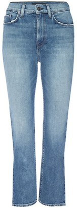 Hudson Holly High-Rise Crop Slit Flare Jeans