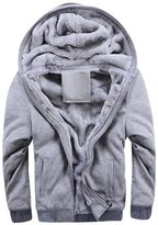 Sun Lorence Men Casual Winter Padded Hooded Coat Warm Cotton Lightweight Jackets XL