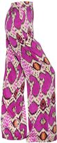 Etro Printed Technical Satin Wide Leg Pants