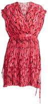 Kenzo Printed Ruffle Flare Dress