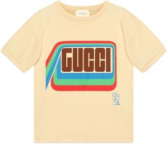 Gucci Children's tiger print cotton T-shirt