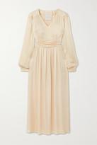 Envelope1976 - Sitges Ruched Charmeuse Midi Dress - Ivory