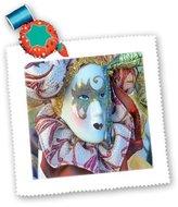 3dRose LLC qs_174588_1 Florene - Holiday - image of vintage mardi gras mask - Quilt Squares