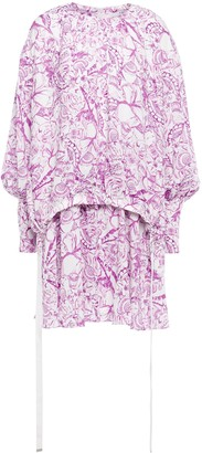 Tibi Isa Printed Cady Mini Dress
