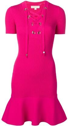 MICHAEL Michael Kors Ribbed Mini Dress