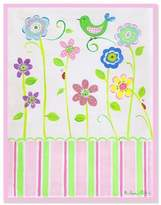 Stupell Industries The Kids Room Bird on Flower Rectangle Wall Plaque