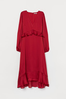 H&M Dress with Flounces - Red
