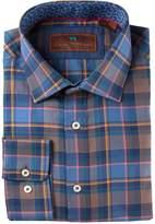 James Tattersall Classic Fit Print Woven Shirt