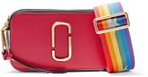 Marc Jacobs Snapshot Color-block Textured-leather Shoulder Bag - Crimson