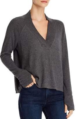 Red Haute Deep V-Neck Sweater