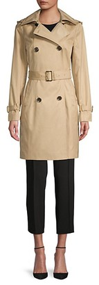 MICHAEL Michael Kors Missy Belted Hooded Trench Coat