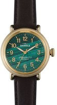 Shinola Runwell Coin Edge Watch with Leather Strap, 38mm