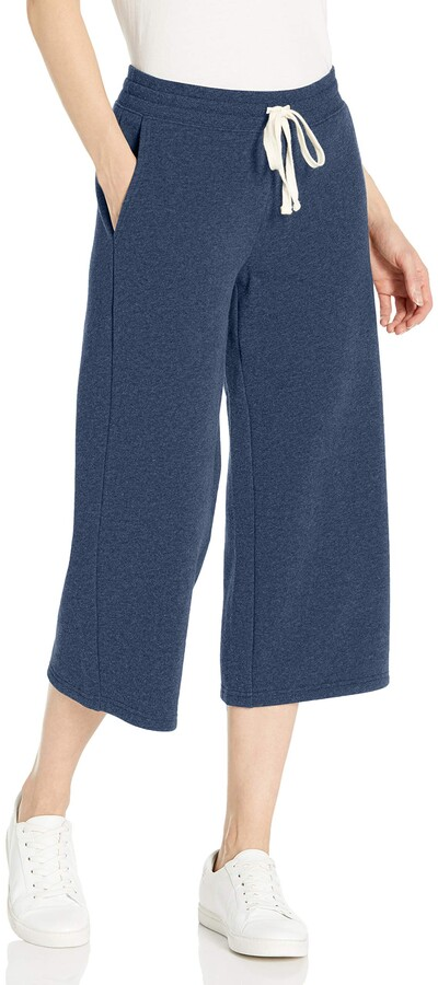 Thumbnail for your product : Amazon Essentials Women's Standard French Terry Fleece Wide-Leg Crop Sweatpant