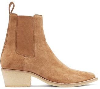 Amiri Point-toe Suede Chelsea Boots - Brown