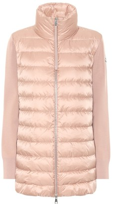 Moncler Down and virgin wool jacket