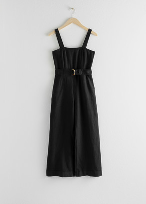 And other stories Belted Linen Jumpsuit
