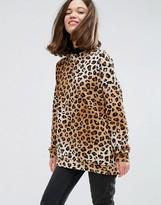 Monki Leopard Print Sweatshirt