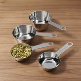 Crate & Barrel 4-Piece Stainless Steel Odd Size Measuring Cup Set