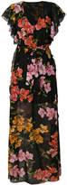 Pinko floral print ruffle maxi dress